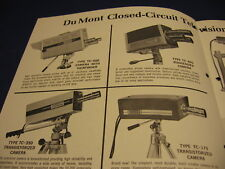 1964 Fairchild TV Camera Catalog DuMont Lab Security Vintage Television