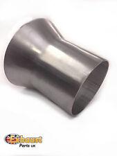 """3.5 """" - 4,75"""" 89 mm - 120mm INOX CONO di Scarico Riduttore Connettore GAS CANNA FUMARIA TUBO"""