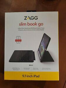 BRAND NEW SEALED Zagg slim book Go for 9.7 inch iPad W/ Bluetooth Keyboard