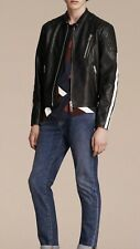 Burberry Mens Stripe Detail Leather Jacket. 52/L. $2495