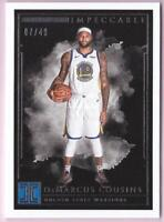 DEMARCUS COUSINS 2018-19 IMPECCABLE SILVER BASE #07/49