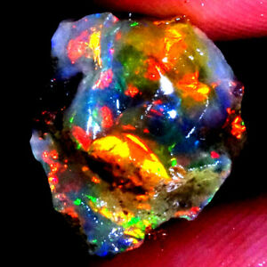 100%Natural Ethiopian Opal Rough CABOCHON Multi Fire Playing Color AC96+AC93
