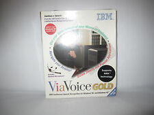 New Sealed Vintage IBM Via Voice Gold Software (Includes Headset Microphone)