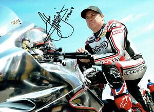 John McGuinness - 2019 Isle of Man TT Signed 16 x 12 Pre Senior Race Picture