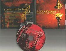 LIFE OF AGONY Love to let you down w/ EDIT PROMO DJ CD Single w/ PRINTED LYRICS