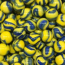 """Blue Tang marble Mega Marbles (Vacor) 5/8"""".  $1 for 2 marbles."""