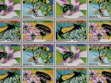 Insects & flowers butterfly bee orchid URUGUAY Sc#1811 MNH STAMP full sheet