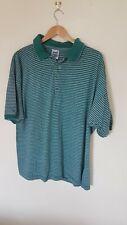 Mens Green Striped T Shirt Size L Avanti <CX2864