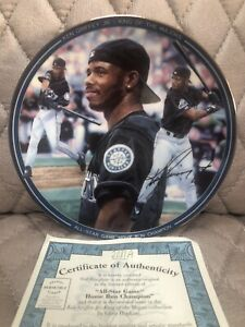"Ken Griffey Jr All Star Autographed Limited Edition 8"" Baseball Plate Mariners"