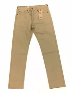 NEW Levi's 502 Regular Taper Stretch Khaki Brown Chino Pants Mens Size 30x32 NWT