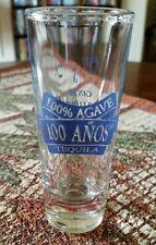 "100 Anos 100% Agave Tequila Tall Shot Glass  ""Canta No Llores"" Celito Lindo"
