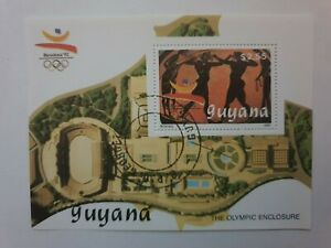 1989 Guyana summer Olympics - souvenir sheet  CTO