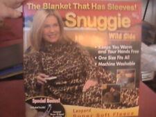 Snuggie Blanket w/ Sleeves & Pockets  Leopard Print  Soft Fleece New Open Box