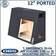 "Regular cab Solo baric 12"" Single ported sub box vented sub woofer enclosure"