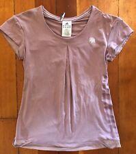 Adidas Roland Garros Lavender Climalite Tennis T-shirt. UK 12 Sample