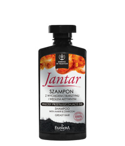 JANTAR SHAMPOO WITH AMBER&ACTIVE CHARCOAL SZAMPON Z BURSZTYNEM I WEGLEM AKTYWNYM