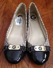 Sz 8.5 G By Guess Women Brown Casual Career Slip On Flats NWOB