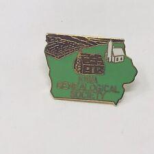 Vintage Iowa Pin Genealogical Society Costume Jewelry Retro Country