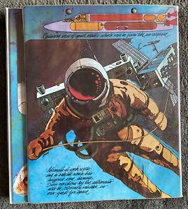 Vintage Rare Space Race Astronaut Trapper Keeper Mead, Portfolio 70/80's