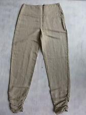 SARAH PACINI made in Italy Designe Hose slim Boyfriend beige Gr 1 36 W28/L34 Neu