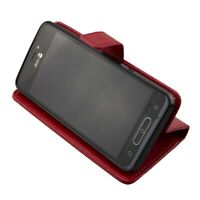 caseroxx Bookstyle-Case for Doro 8035 in red made of faux leather