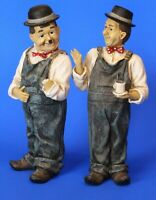 Vintage Laurel & Hardy ceramic figures cup of tea, 19cm DAMAGED *[17305]
