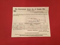 The International Nickel Co of Canada Ltd London 1938 Dividend receipt R35630