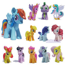 12Sets/Lot My Little Pony Action Figures Rainbow Dash Pony Kids Toys