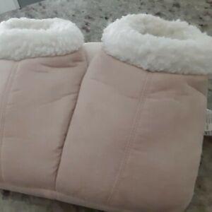 Electric Heated Warm Foot Warmer Heating Slippers Feet Heater Shoes BEIGE