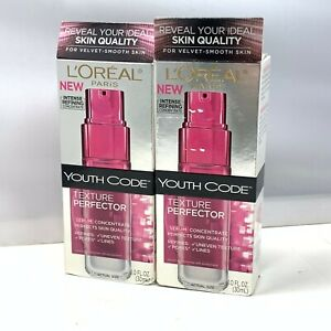 L'Oreal Youth Code Texture Perfector 1.0fl.oz./30ml New; LOT OF 2