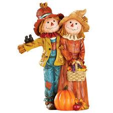 Festive Scarecrow Couple Indoor Fall Decor