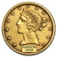 $5 Liberty Gold Half Eagle XF (Random Year) - SKU #159201