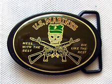 Gürtelschnalle US Marines Gun Mess with the best Die like the rest  Belt Buckle