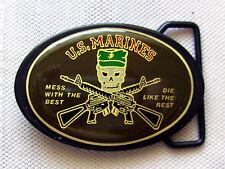 Cintura fibbia US Marines GUN Mess with the best I like the rest Belt Buckle