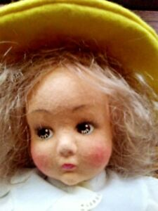 """Antique 15"""" Doll Lenci Like With Original Clothes"""