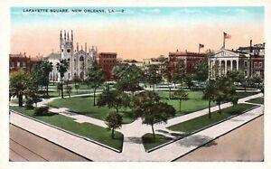 New Orleans, LA, Lafayette Square, White Border Vintage Postcard a4366