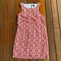 Tokito City Size 10 Shift Dress Multi Colured Pattern Sleeveless Lined Casual