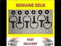 8x Dzus Fasteners / fairing fasteners 17mm D ring anti scratch,retaining washers