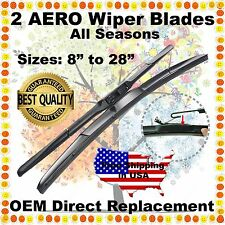 "AERO HYBRID 22"" & 22"" PREMIUM OEM QUALITY SUMMER WINTER WINDSHIELD WIPER BLADES"
