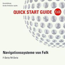 Falk F-Serie / M-Serie Navigationssystem Kurzanleitung Quick Start Guide, De, Fr