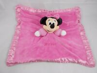 Minnie Mouse Pink Lovey Security Blanket Plush Stuffed Animal