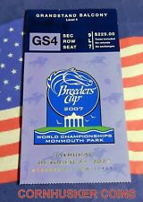2007 BREEDERS CUP GRANDSTAND TICKET ~ MONMOUTH PARK ~ BC CLASSIC WINNER CURLIN