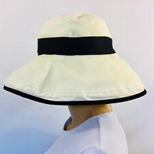 6322bf5c SCALA Collection Cotton Big Brim Hat, Inner Drawstring, UPF 50+, Beige/