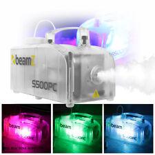 Beamz S500pc Glowing Smoke Machine Fog Mist Effect RGB LED DJ Disco Party Light