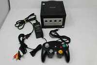 Nintendo Gamecube GC Jet Black Console w/ 1 Controller, and Hookups