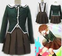 Dress Full SettBesutifu Dangan Ronpa Fujisaki Chihiro Cosplay Costume Brown KJ