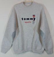 Tommy Hilfiger Sports Mens Sweatshirt Size XL Vintage Gray Heather Embroidered