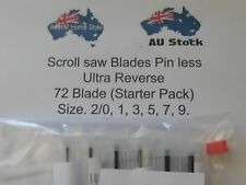 (STARTER PACK)72 Scroll Saw Blades(ULTRA REVERSE)NO.2/0,1,3,5,7,9 & Storage Tube