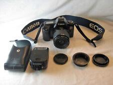 Canon EOS Rebel 35MM Film Camera 35-80mm Zoom Lens Speedlight 200E Flash