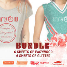 """Siser Bundle - 6 Sheets (15""""x12"""") of EasyWeed and 6 Sheets (20""""x12"""") of Glitter"""